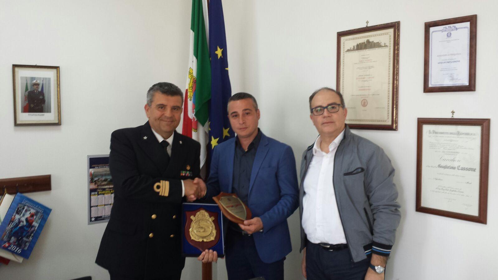 INCONTRO CON IL COMANDANTE DELLA CAPITANERIA DI CASTELLAMMARE STABIA