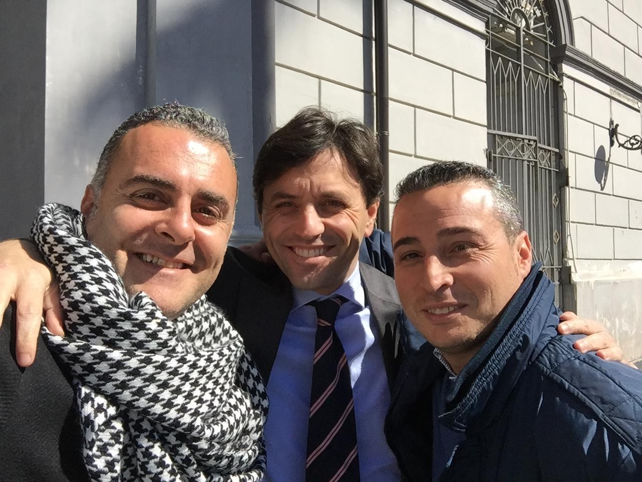 Il presidente Raiola con il consigliere Accardo accolti dal sindaco di Ercolano Ciro Bonajuto