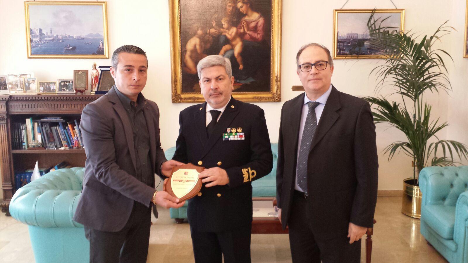 Incontro con l'Ammiraglio porto di Napoli Arturo Faraone