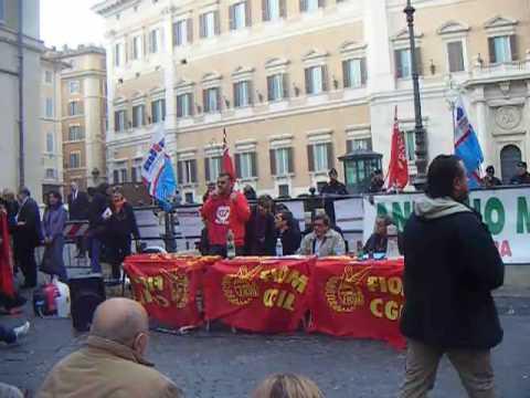 Protesta palazzo Chigi
