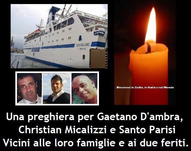 """tragedia  sulla nave """"Sansovino"""" tre morti sul lavoro."""