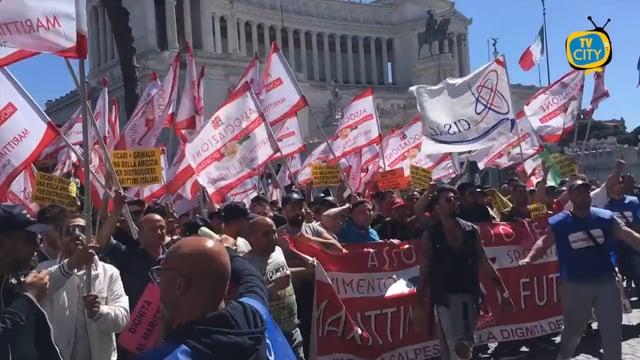 La protesta dei marittimi a Roma. Lo speciale di Tvcity