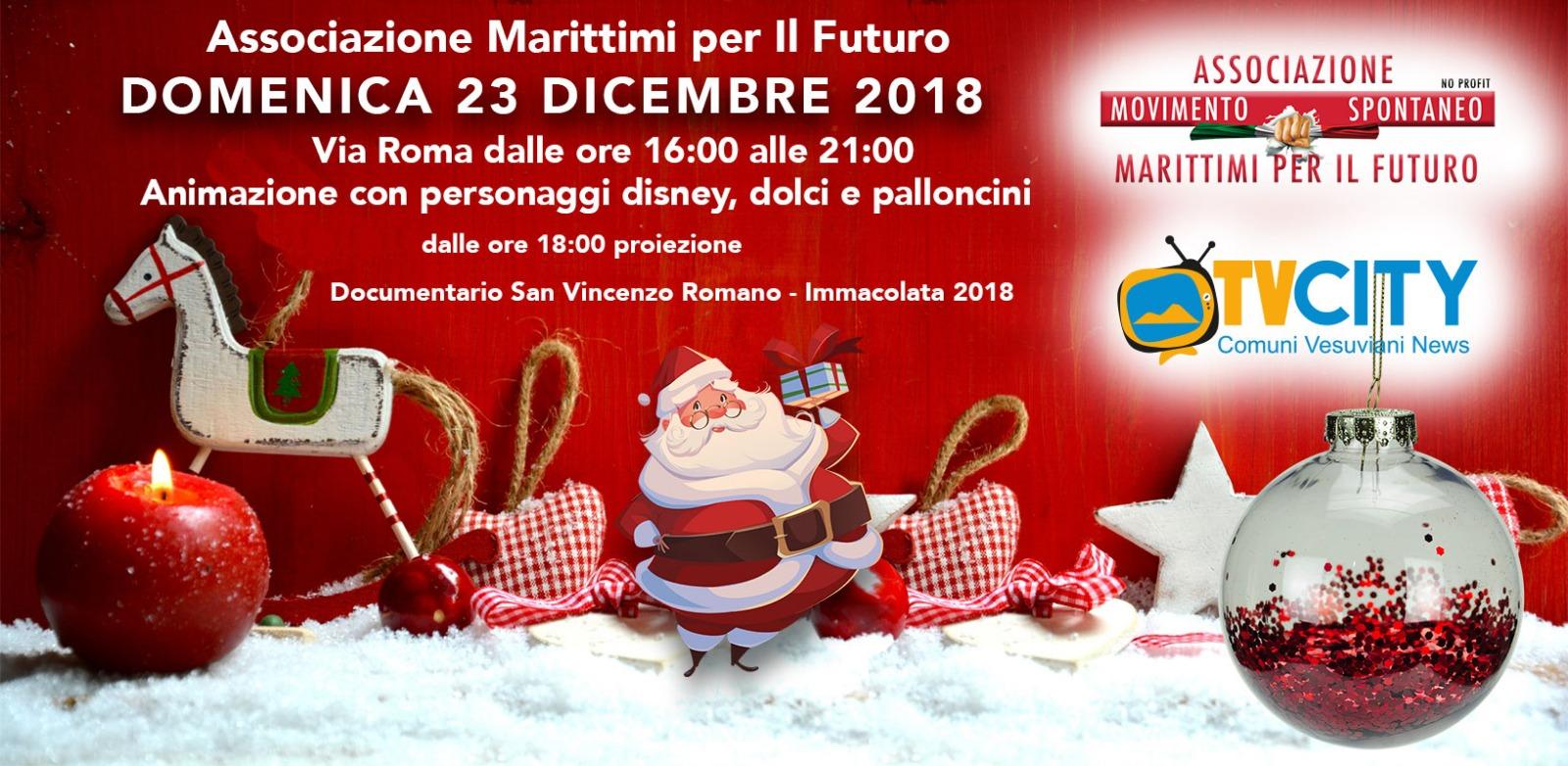 Natale a Torre del Greco: animazione per i bambini e dolci con i Marittimi per il Futuro