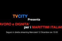 Domani 12 Dicembre ore 15:00 in diretta su TVCITY